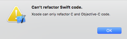 Can't Refactor Swift Code