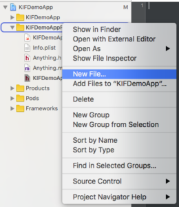 Installing KIF with CocoaPods for Swift Apps