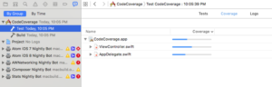 broken code coverage in xcode