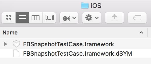 FBSnapshotTestCase Installation