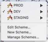 iOS environment configuration