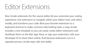 xcode extensions