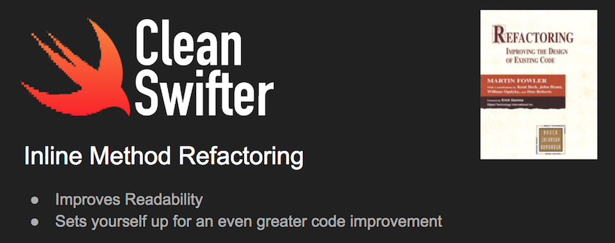 VIDEO: Inline Method Refactoring in Swift
