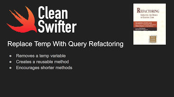 Replace Temp With Query In Swift