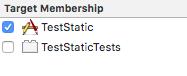 xctest target membership