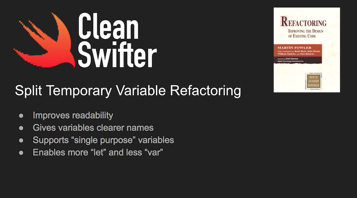 Split Temporary Variable in Swift