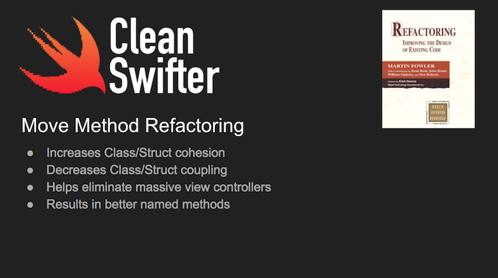 Move Method Refactoring in Swift